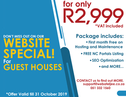 Website Special for Guest Houses   Groblershoop Accommodation, Business & Tourism Portal